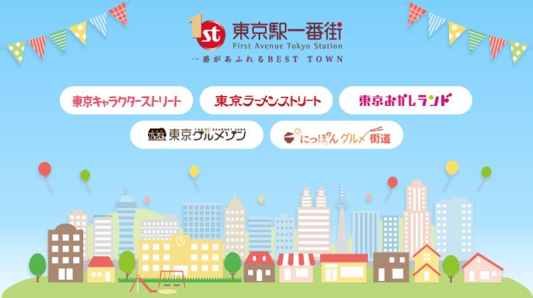 ようこそ、東京駅一番街へ。Welcome to First Avenue Tokyo Station!